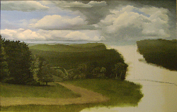 Landscape oil painting entitled 'View From Hunter Mountain' by John O'KeefeJr.