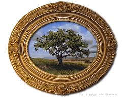 Oil on Canvas: 'Big Cork Tree' by John O'Keefe Jr.