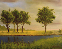 Landscape oil painting entitled 'Buffalo Trail Revisited' by John O'Keefe