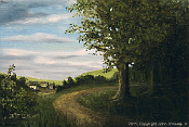 Landscape oil painting entitled 'Just Passing Through' by John O'Keefe
