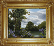 Giclee on Canvas with Frame 2EMP005-G titled 'Lilac Pond' by John O'Keefe Jr.