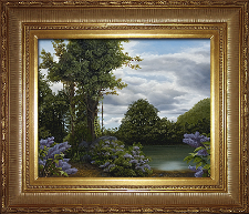 Giclee on Canvas with Frame 2EMP006-G titled 'Lilac Pond' by John O'Keefe Jr.