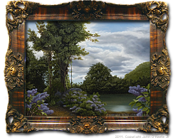 Oil on Linen: 'Lilac Pond' by John O'Keefe Jr.