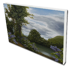 Giclee on Canvas titled 'Lilac Pond' by John O'Keefe Jr.