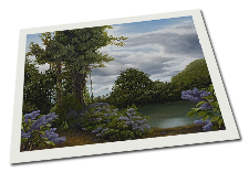Giclee on Paper titled 'Lilac Pond' by John O'Keefe Jr.