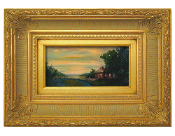 Oil on Linen: 'Moment of Reflection' by John O'Keefe Jr.