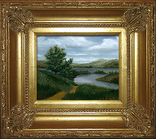 Giclee on Canvas with Frame 2EMP005-G titled 'New England River' by John O'Keefe Jr.
