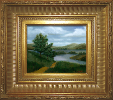 Giclee on Canvas with Frame 2EMP006-G titled 'New England River' by John O'Keefe Jr.