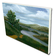 Giclee on Canvas titled 'New England River' by John O'Keefe Jr.