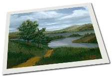 Giclee on Paper titled 'New England River' by John O'Keefe Jr.