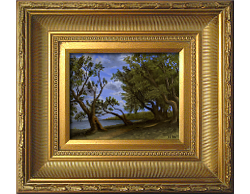 Oil on Canvas: 'Old Olive Tree Path' by John O'Keefe Jr.
