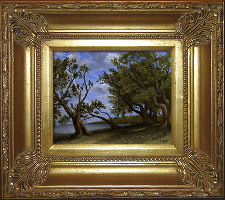 Giclee on Canvas with Frame 2EMP005-G titled 'Old Olive Tree Path' by John O'Keefe Jr.