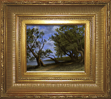 Giclee on Canvas with Frame 2EMP006-G titled 'Old Olive Tree Path' by John O'Keefe Jr.