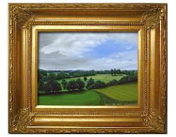 Oil on Linen: 'Peaceful Hills' by John O'Keefe Jr.