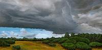 Landscape oil painting entitled 'Prairie Storm' by John O'Keefe