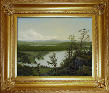 Giclee on Canvas with Frame 2EMP005-G titled 'River Through The Adirondacks' by John O'Keefe Jr.