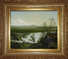 Giclee on Canvas with Frame 2EMP006-G titled 'River Through The Adirondacks' by John O'Keefe Jr.
