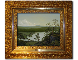 Oil on Canvas: 'River Through the Adirondack's' by John O'Keefe Jr.