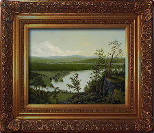 Giclee on Canvas with Frame LXIV002-DG titled 'River Through The Adirondacks' by John O'Keefe Jr.