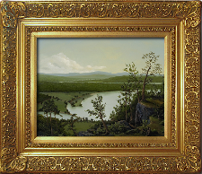 Giclee on Canvas with Frame LXIV002-G titled 'River Through The Adirondacks' by John O'Keefe Jr.