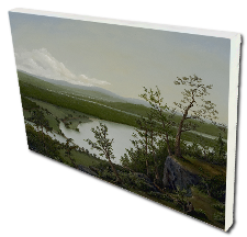 Giclee on Canvas titled 'River Through The Adirondacks' by John O'Keefe Jr.