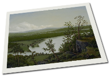 Giclee on Paper titled 'River Through The Adirondacks' by John O'Keefe Jr.
