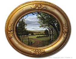 Oil on Canvas: 'Summer in the Valley' by John O'Keefe Jr.