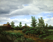 Original Landscape Oil Painting titled 'The Bridge Home' by John O'Keefe Jr.