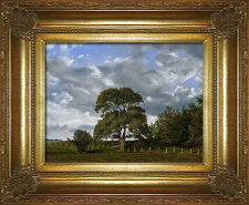 Giclee on Canvas with Frame 2EMP005-G titled 'The Field's Edge' by John O'Keefe Jr.