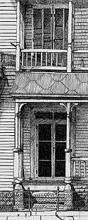 Original Pen & Ink titled 'Run Down House' by John O'Keefe Jr.