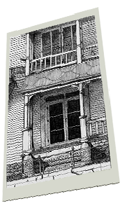 Original Pen & Ink Drawing titled 'Run Down House' by John O'Keefe Jr.