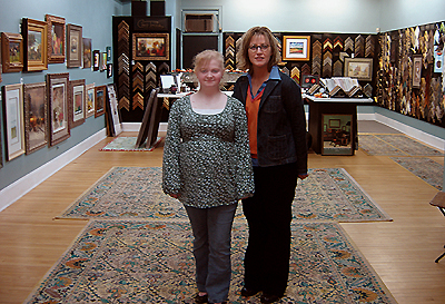 Danielle O'Keefe poses with Landmark Gallery owner Gillian Zimmerman