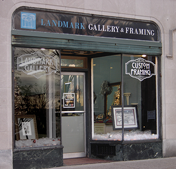 Gallery front for Landmark Gallery & Framing located in Wallingford, Connecticut