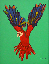 Danielle O'Keefe - Parrot Painting