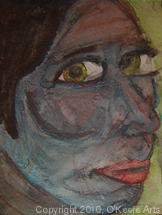 Watercolor painting by Danielle O'Keefe - portrait of a friend 2