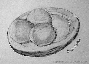 Graphite drawing by Danielle O'Keefe - Shading study