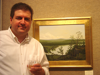 Opening Reception - John by his painting