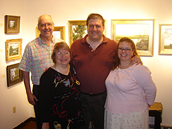 Opening Reception - main gallery - John and family
