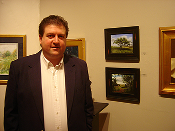 Lyme Art Gallery - Cooper Ferry Gallery, John O'Keefe Jr with 'Big Cork Tree' and 'Summer in the Valley'