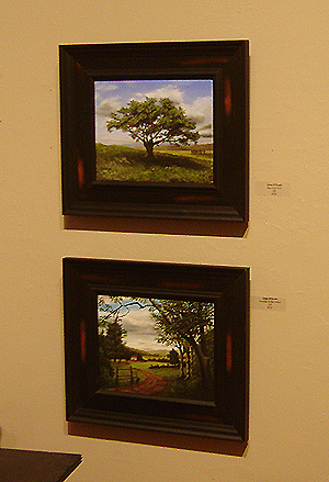 Lyme Art Gallery - Cooper Ferry Gallery, John O'Keefe Jr 'Big Cork Tree' and 'Summer in the Valley'