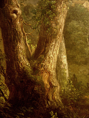 Hudson River School painting entitled 'Sunday Morning' by Asher Brown Durand - Detail view #2