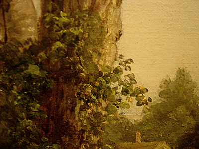 Hudson River School painting entitled 'Sunday Morning' by Asher Brown Durand - Detail view #3