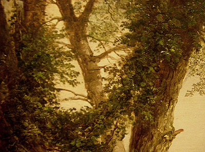 Hudson River School painting entitled 'Sunday Morning' by Asher Brown Durand - Detail view #4