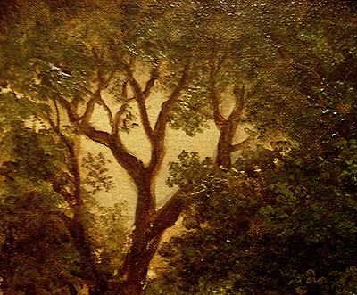 Hudson River School painting entitled 'Sunday Morning' by Asher Brown Durand - Detail view #5