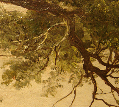 Hudson River School painting entitled 'Sunday Morning' by Asher Brown Durand - Detail view #11