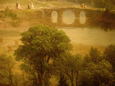 Hudson River School painting entitled 'Sunday Morning' by Asher Brown Durand - Detail view #14