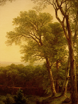 Hudson River School painting entitled 'Sunday Morning' by Asher Brown Durand - Detail view #15