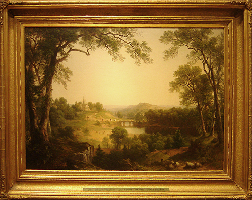 Hudson River School painting entitled 'Sunday Morning' by Asher Brown Durand