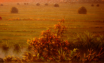 Hudson River School painting entitled 'Ipwich Marshes' by Martin Johnson Heade - Detail View #2