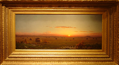 Hudson River School painting entitled 'Ipwich Marshes' by Martin Johnson Heade